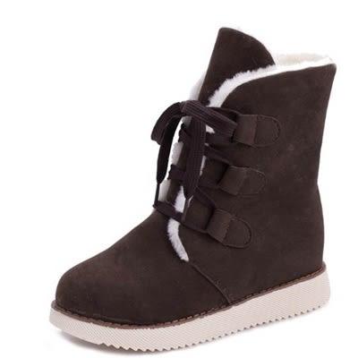 中筒雪靴-時尚潮流百搭流行女厚底靴子5色73kg35[巴黎精品]