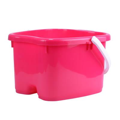加厚按摩足浴桶手提塑料泡腳桶足浴盆家用洗腳盆仿木養生洗腳桶RM