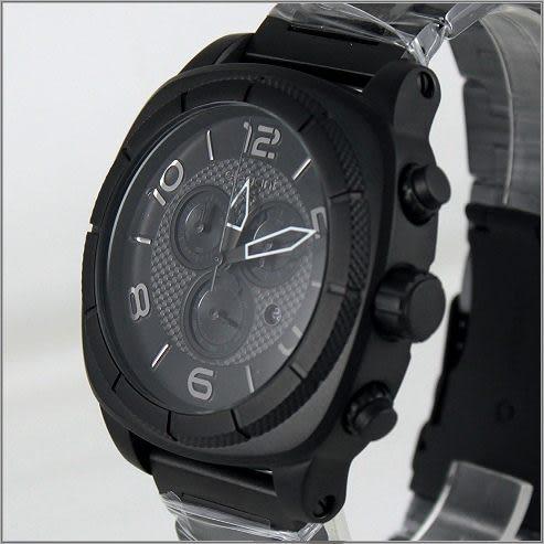 【萬年鐘錶】elegant大錶徑 三眼多功能 (霧黑) ELJT66-FB07MA