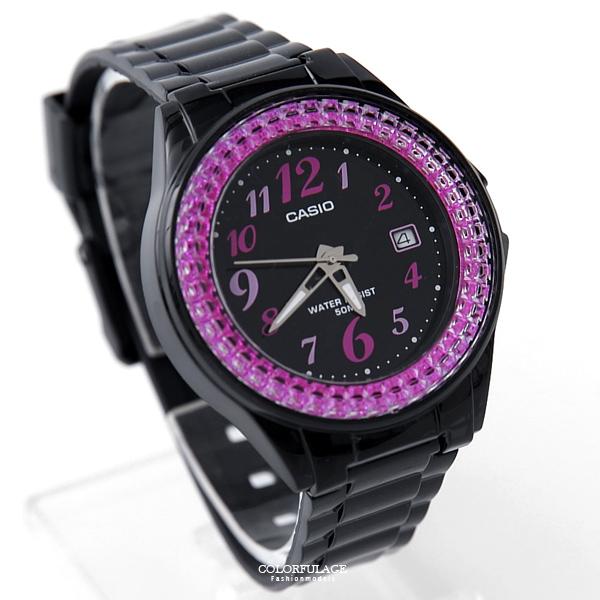 CASIO卡西歐粉鑽數字休閒腕錶 防水50米 運動膠錶 柒彩年代【NEC131】