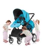 {家事達}Britax-B-DUAL雙人雙向 嬰兒手推車-藍色  特價