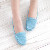 懶人鞋 娃娃鞋 水藍 女鞋 真皮平底娃娃鞋《SV6953》HappyLife