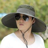 戶外釣魚帽夏天太陽帽涼帽漁夫帽男士防曬遮陽韓版潮登山帽子【叢林之家】