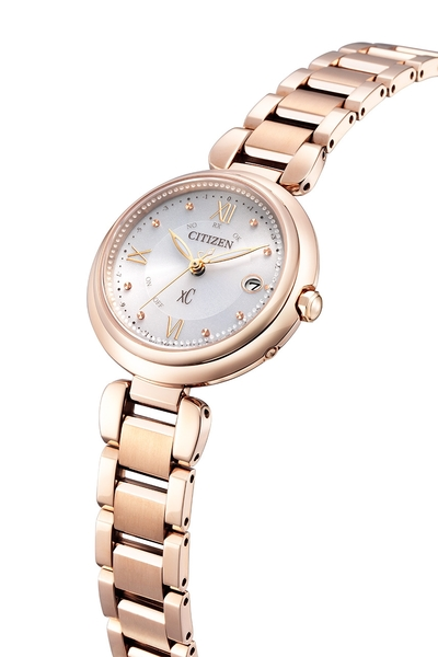 29mm 【分期0利率】星辰錶 CITIZEN XC 玫瑰金 電波錶 光動能 原廠公司貨 ES9464-52A