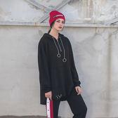 DADA SUPREME 連帽寬鬆圓環裝飾上衣-黑-男女