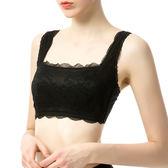 出口日繫無鋼圈防走光抹胸文胸 夏季超薄款寬肩帶蕾絲裹胸式內衣限時八九折