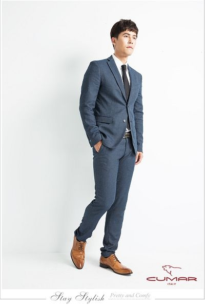 CUMAR英倫紳士 牛皮綁帶紳士皮鞋-黑