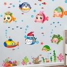►卡通娃娃魚臥室浴室防水可移除貼紙貼畫可...