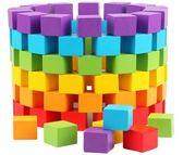 兒童玩具100粒大塊木制正方體立方體積木益智【現+預購】