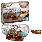 LEGO 樂高 Ideas Ship in a Bottle 21313 Expert Collectible Display Set and Toy for Adults (962 Pieces)