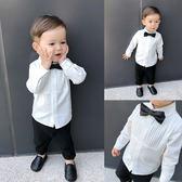 七夕好康又一發 白襯衫風琴褶上衣 1-2周歲小童長袖襯衣