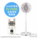 【配件王】 日本代購 SHARP 夏普 PJ-F3DS 空氣清淨 電風扇 立扇 負離子 除靜電 衣類消臭