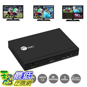[8美國直購] 切換器 SIIG Quad Multi-Viewer 4x1 HDMI Switcher with Seamless Switch and IR Remote Control 5
