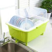 正韓塑料碗櫃廚房餐具置物架jy碗筷瀝水架碗碟架帶蓋加厚碗盤置物架【快速出貨八折鉅惠】