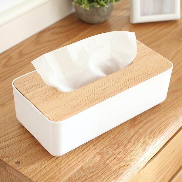 簡約 橡木蓋 手機架 面紙盒 抽取式 面紙 餐巾紙 衛生紙 盒 收納 置物 居家 iphone【RS619】