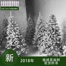 聖誕樹 圣誕節圣誕樹白色植絨1.2米仿真噴雪松雪景冰雕裝飾耶誕節JY