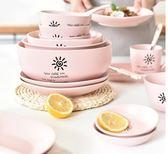 餐碟碗碟套裝家用創意日式吃飯盤子碗碗筷碗盤4人10個2陶瓷簡約餐具【艾琦家居】