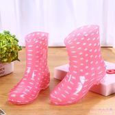 中大尺碼雨鞋 女成人膠鞋短筒防滑廚房工作防水鞋雨靴水靴套鞋夏季外穿 DR23366【Rose中大尺碼】
