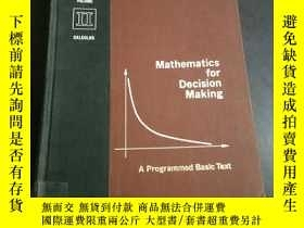 二手書博民逛書店MATHEMATICS罕見FOR DECISION MAKING A PROGRAMMED BASIC TEXT