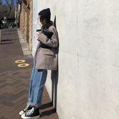 大韓訂製牛仔褲韓版休閒女裝卷邊九分褲oversize長褲