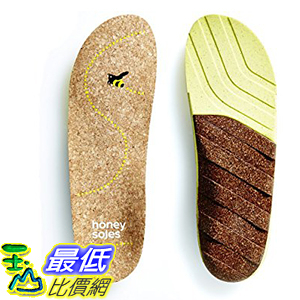 [美國直購] Honey Soles (SIZE B, Women s 6.5 - 8 USA) 軟木鞋墊 Natural Cork Shoe Insoles