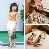 女童涼鞋2018夏季新款韓版防滑兒童沙灘鞋甜美平底公主鞋潮