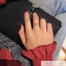 日韓網紅開口食指戒指女個性網紅潮人學生指環玫瑰金冷淡風戒子潮  韓慕精品