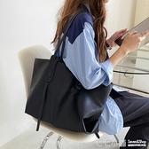 托特包 2020新款韓版pu皮防水軟面包包簡約托特包百搭大容量單肩大包女潮