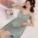 性感吊帶睡衣睡裙女夏季家居服可愛薄款無袖洋裝2020年新款 LR20794『麗人雅苑』