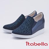 itabella.水鑽點綴內增高休閒鞋(9556-50藍色)