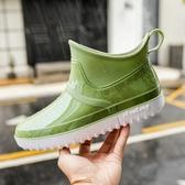 雨鞋男短筒低幫雨靴水鞋膠鞋男套鞋防水防滑秋冬保暖  歐韓流行館