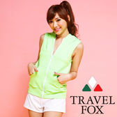 【TRAVEL FOX夏之戀】亮麗運動風大女外搭罩衫-C14702