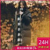 免運★梨卡 - 正韓國代購加棉仿羽絨棉風衣外套大衣 - 韓國空運中長版厚鋪棉外套A175