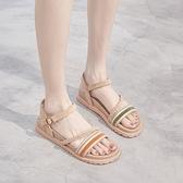 平底涼鞋女 涼鞋女年夏季新款仙女風百搭學生森女一字帶平底羅馬鞋