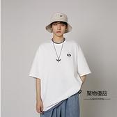 夏季學生假兩件圓領短袖T恤寬鬆文藝港風男女【聚物優品】
