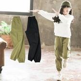 兒童長褲女童工裝褲新款兒童洋氣褲子秋冬外穿中大童加絨運動長褲秋款 聖誕節