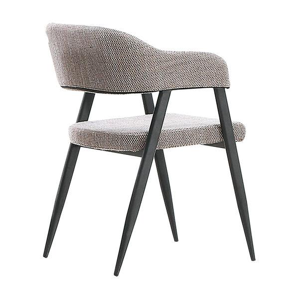 【森可家居】安特樂卡其色布餐椅 7JX248-1
