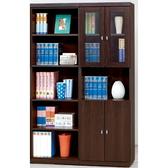 書櫃 書櫥 CV-625-2B 安寶耐磨胡桃4尺書櫃【大眾家居舘】
