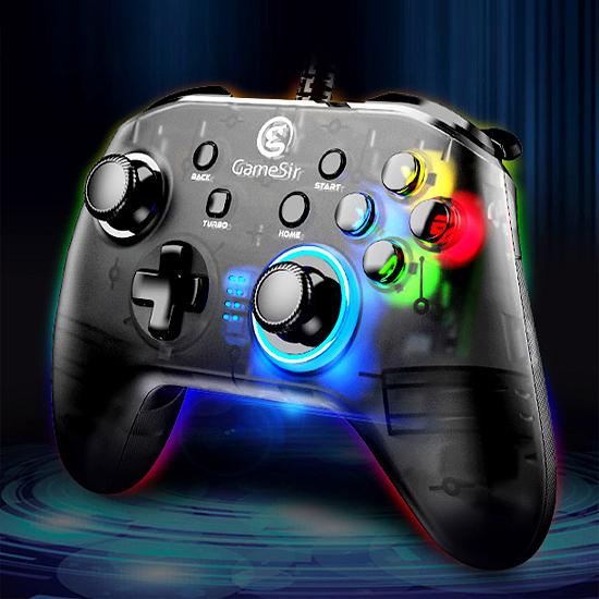[哈GAME族]免運費●支援多平台●GameSir 蓋世小雞 T4W 有線遊戲手把 控制器 支援PC/Switch/PS3/安卓