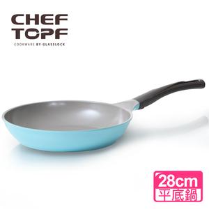 【韓國Chef Topf】La Rose玫瑰薔薇系列28公分不沾平底鍋