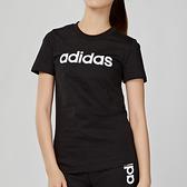 Adidas Essentials LINEAR 女款 黑色 LOGO 短袖 DP2361