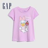 Gap女幼童 Gap x Disney 迪士尼系列純棉短袖T恤 701050-淡紫色
