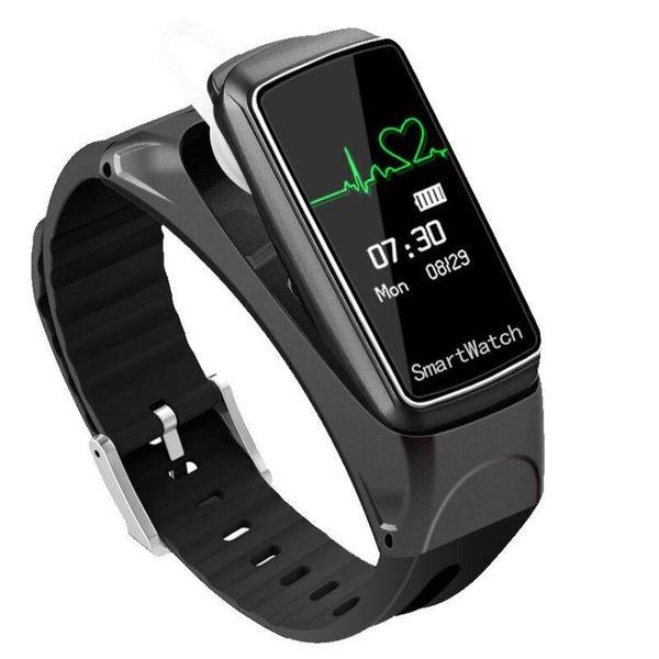 米蕉智慧手環藍芽耳機二合一運動計步器測手錶可通話藍芽手環