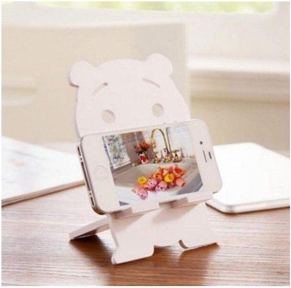 創意 手機座 創意 可愛 卡通 兔子 小熊 貓 萌 懶人 手機 支架 diy 桌面 手機架 蘋果