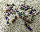 【協貿國際】手工掐絲琺瑯銅胎景泰藍DIY棍珠子(3顆裝)