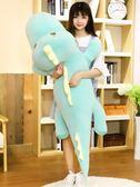 睡觉抱枕 可愛恐龍?毛絨玩具大號公仔娃娃韓國抱枕睡覺懶人著超萌玩偶女孩