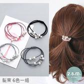 髮束 珍珠多圈髮束 6色一組 A1017