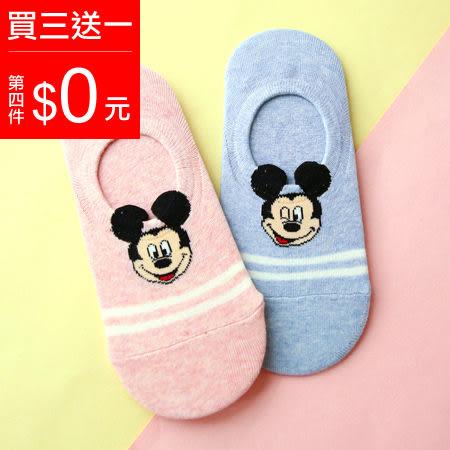 韓國 米奇立體耳朵矽膠止滑隱形襪 船型襪 淺口船襪 短襪 襪子 迪士尼