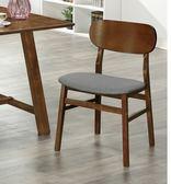 【新北大】 833B 胡桃色餐椅(布面)-餐椅/實木椅/椅子-18購