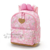 〔小禮堂〕美樂蒂 尼龍後背包《10L 粉兔耳草莓滿版》4901610 98232